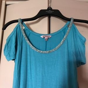 New Juicy Couture Dress-Turquoise-crystal accents.